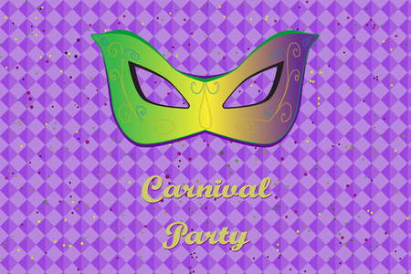 Picture ready for use in carnival thematic. Mask on vibrant background