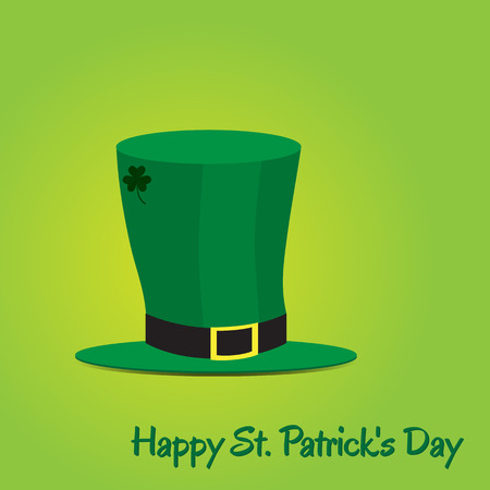 patric icon: Leprechaun hat on green background