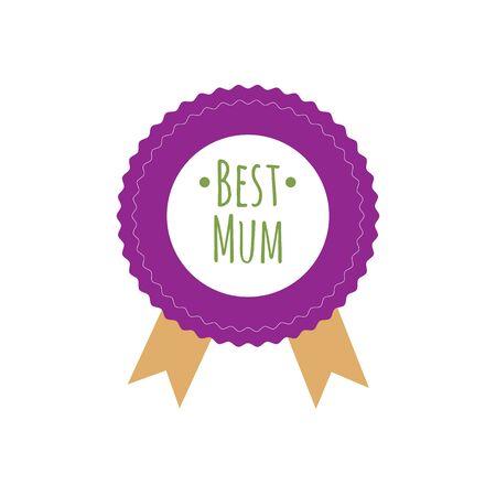 Happy Mothers Day ribbon badge