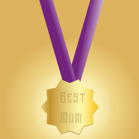 Happy Mothers Day medal