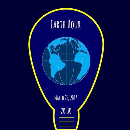 Earth Hour environmental movement illustration.
