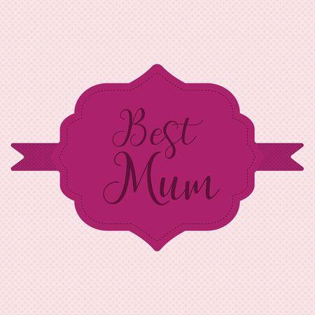 Happy Mothers Day ribbon badge.