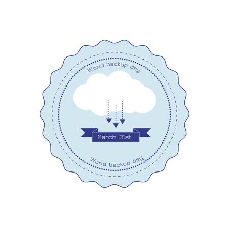 Backup and restore data cloud ribbon badge.