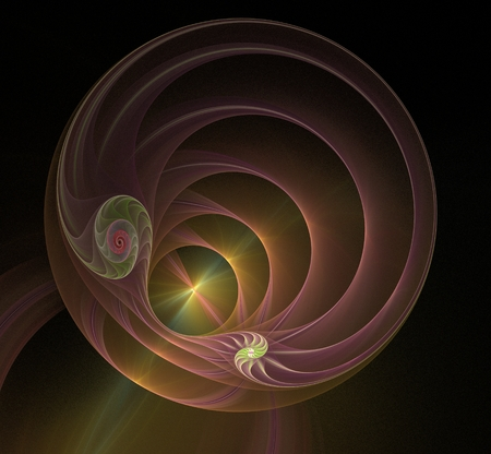 Multicolored spiral fractal picture Stock Photo