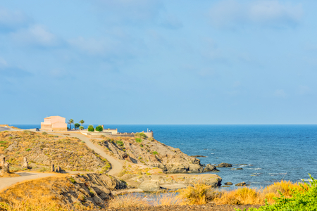 Panoramic view on the sea, Almeria, Andalusia Stock Photo