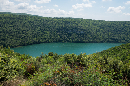 Limski Canal also called Limski Fjord in Istria near Rovinj Stock Photo