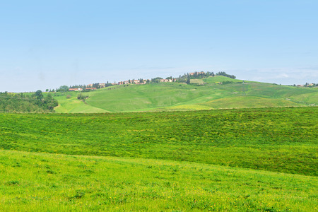 Beautiful spring landscape with hills in Tuscany Reklamní fotografie
