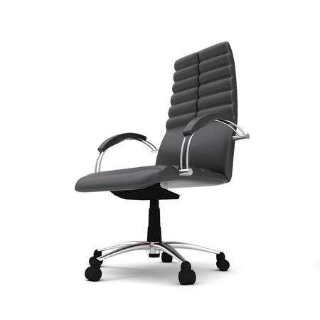 Una sedia per ufficio isolato su sfondo bianco Archivio Fotografico