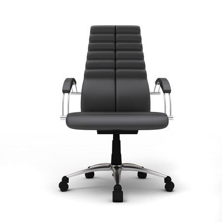 One office chair isolated on white background Stock Photo