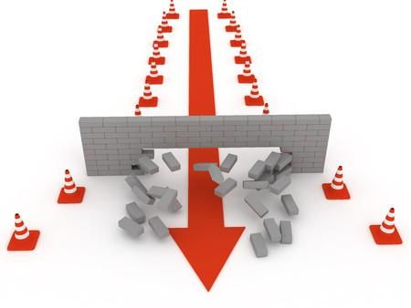 Superare gli ostacoli. La distruzione del muro di mattoni