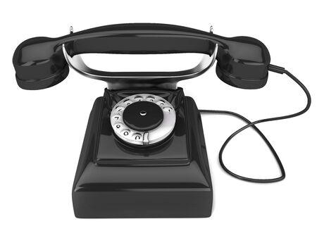 phoning: Model old phone isolated on white background