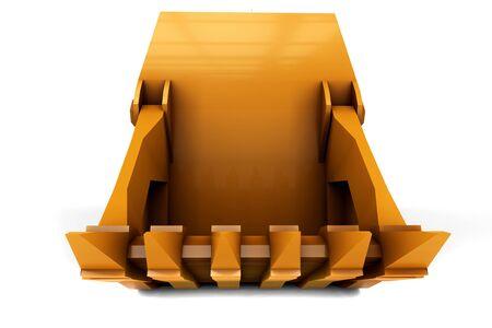 larger: Larger orange digger isolated on white background