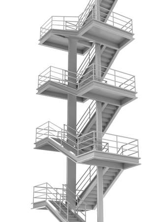 Stair leading to top. On white background photo