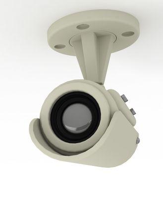 Camera video sorveglianza isolato su sfondo bianco