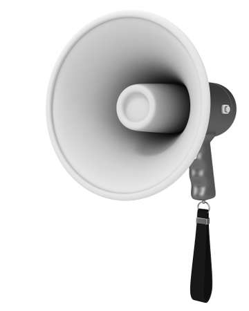 Megaphone isolated on white background. 3d render Stock Photo