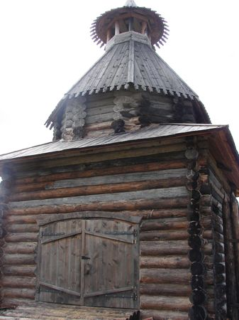 Old Russian wooden church             photo