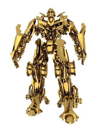 Robot transformer isolated on white background. 3d render Stock Photo - 5825961