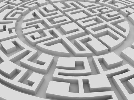 Round labirinth photo
