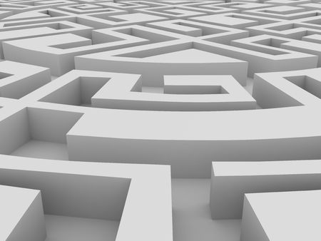 Round labyrinth photo