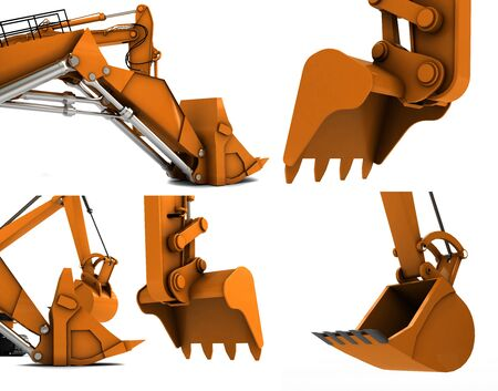 Orange digger scoop isolated on white background photo