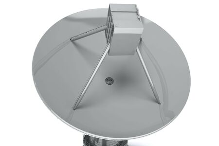 Satelite dish isolated on white background. 3d render photo