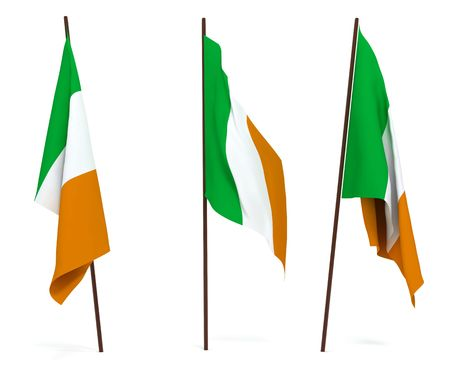 The state flag of Ireland. On white background Stock Photo - 6532794