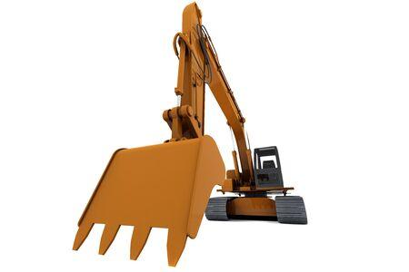 Orange dirty digger isolated on white background Stock Photo - 6582748