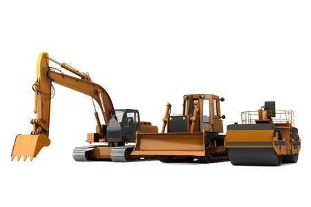 Group road machinery for road construction Stock Photo - 6743894