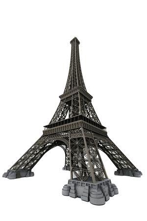 Torre Eiffel isolata on white. Computer grafica Archivio Fotografico