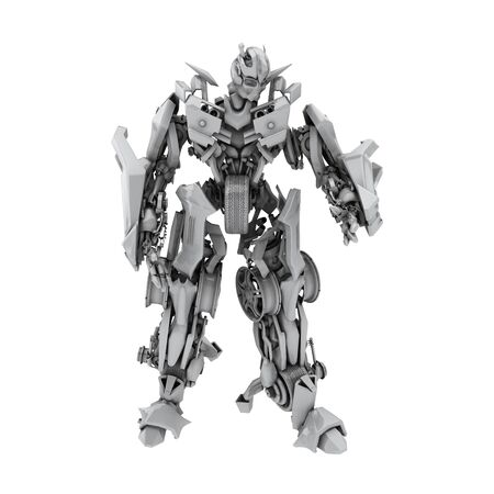Robot isolated on the white background