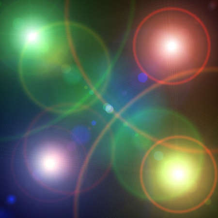 Color defocused disco light dots. Abstract lightning photo