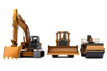 Macchine di gruppo stradali per la costruzione di strade  Archivio Fotografico