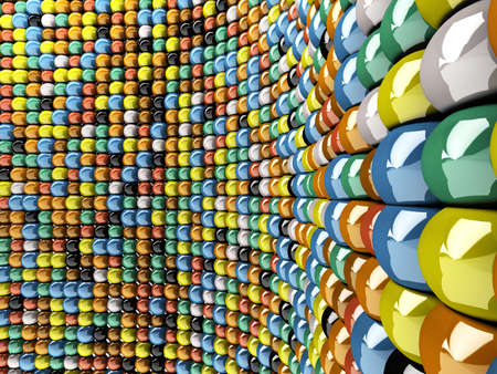 A wall of mosaic in the shape of sphere Stock Photo - 6975343