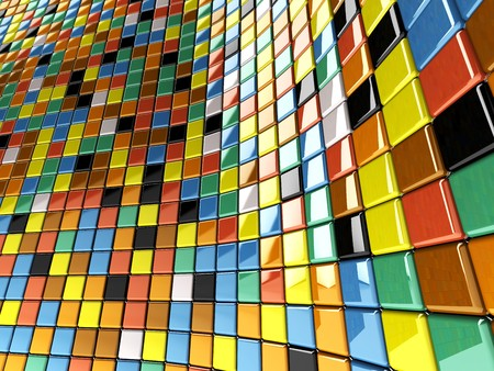 A wall of mosaic in the shape of squares Stock Photo - 6975342