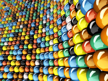 A wall of mosaic in the shape of sphere Stock Photo - 7005999