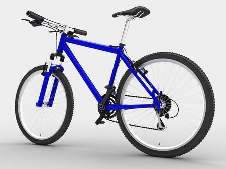 Biciclette blu dello sport. Isolato su sfondo chiaro