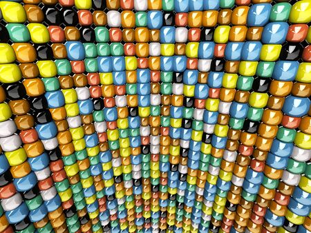 A wall of mosaic in the shape of sphere Stock Photo - 7119166