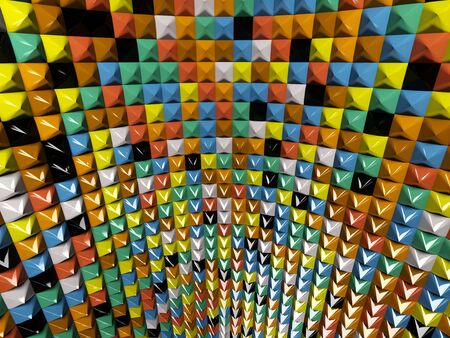 A wall of mosaic in the shape of pyramid Stock Photo - 7372458
