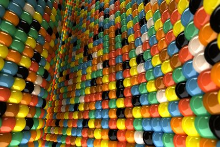 A wall of mosaic in the shape of sphere Stock Photo - 7372456