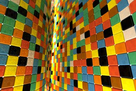 A wall of mosaic in the shape of squares Stock Photo - 7372441
