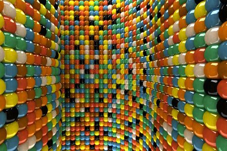 A wall of mosaic in the shape of sphere Stock Photo - 7434099