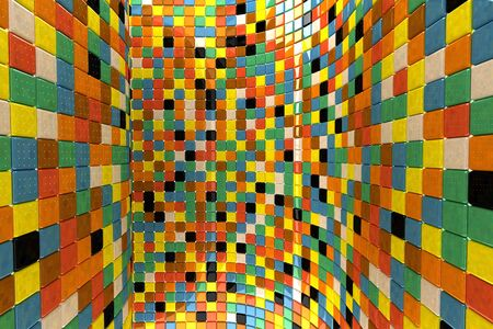 A wall of mosaic in the shape of squares Stock Photo - 7434098