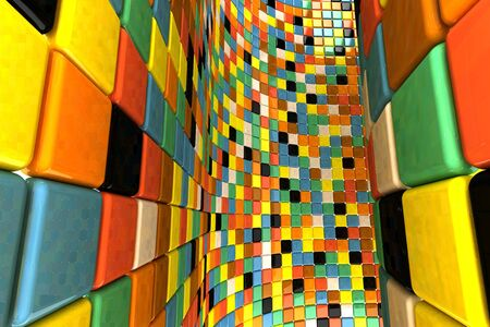 A wall of mosaic in the shape of squares Stock Photo - 7561842