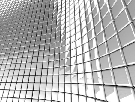 A wall of white mosaic in the shape of squares Stock Photo - 7561844