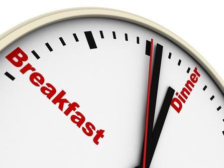 daily routine: Reloj de la rutina diaria. Aislados en blanco.