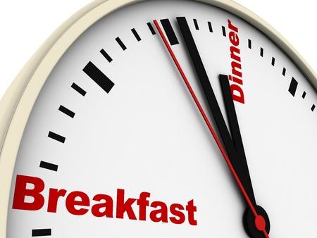 daily routine: Reloj de la rutina diaria. Aislado en blanco.