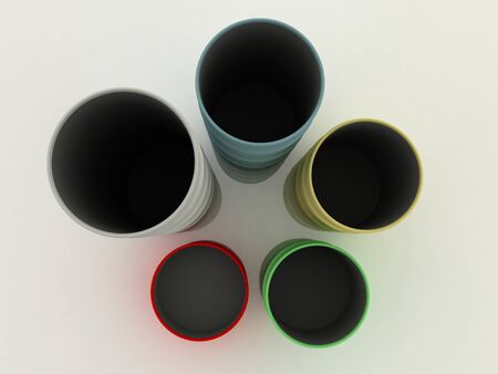 Diagram from color barrels. On the white. Top view Stock Photo - 9575160