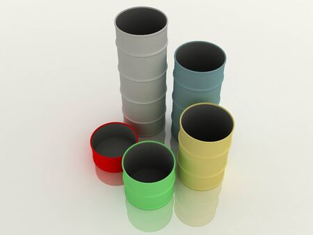 Diagram from color barrels. On the white Stock Photo - 9622729