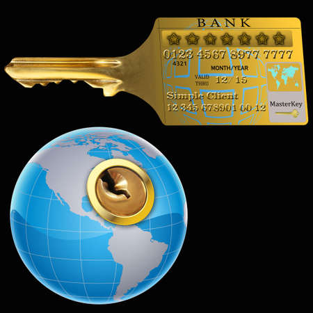 international bank account number: The possibility of a credit card to open the World Stock Photo