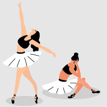 Bad ballerina skirt interferes. Opposition. Bad and good. Metaphor.